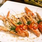 赤座海老のカルパッチョ ゴマ風味